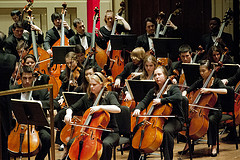 The Penn State Philharmonic Orchestra performed after intermission of the sixth annual Penn State President's Concert, held Feb. 28 in Heinz Hall, Pittsburgh.