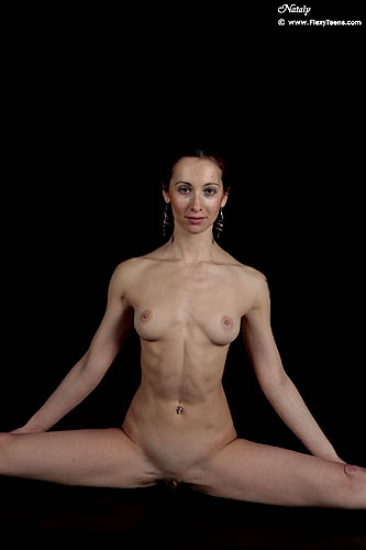 Naked flexible girl
