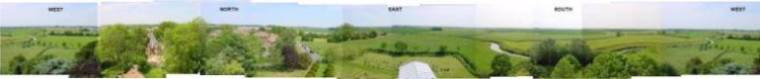 Panorama from the tower of All Saints' Church, Barnby-in-the-Willows