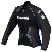 Ladies Kawasaki Jet-Z Textile Jacket (Black)