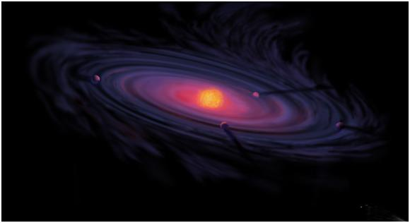 Artist's impression of the proto-planetary disk, courtesy of NASA.