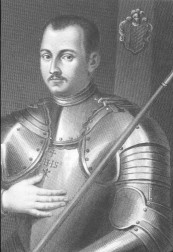Young Ignatius in his armor.