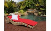 Rattan Sun Lounge 'Elegant'
