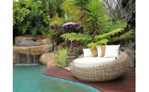 Rattan Daybed 'Grey 1'
