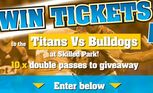 Win tickets to see the Titans face off against the Bulldogs.
