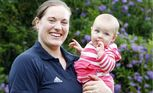 Deborah Acason (nee Lovely) is the Family First candidate for Bundamba, with her daughter Eva.