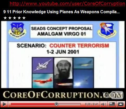 9 11 Prior Knowledge Using Planes As Weapons, Compilation of Clips cut from Core of Corruption