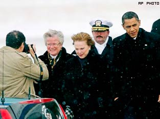 CAN HE TURN THE TIDE? US President Barack Obama arrives at Copenhagen for the climate summit.