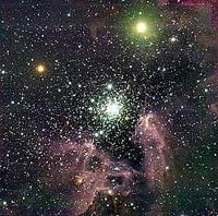 NGC 3603, a giant HII region in the Milky Way