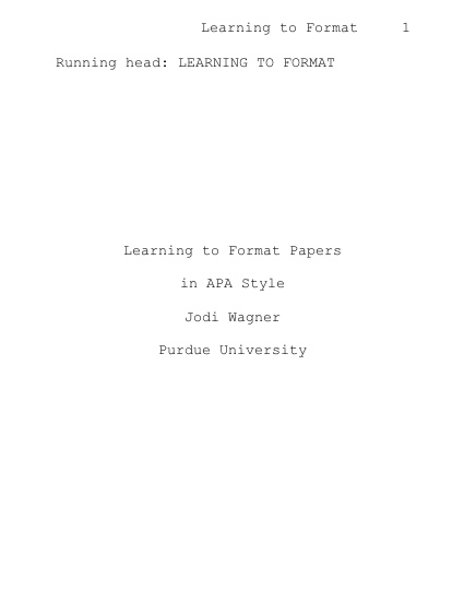 Simulated APA-style title page.