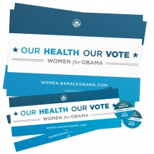 Our Health Our Vote Supporter Pack