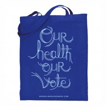 Our Health Our Vote Navy Tote