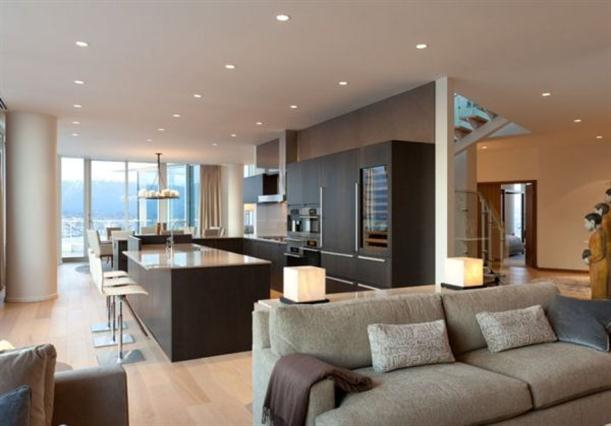 Kitchen and dining Modern Contemporary Apartment Interior Design in Vancouver