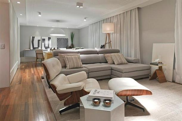Main Interior at Modern and Minimalist Apartment Interior Design with Calm Color