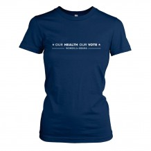 Our Health Our Vote Navy Tee