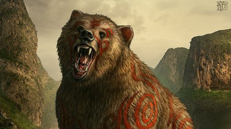 Kromdek Warbear Picture  (2d, creature, bear, magical, fantasy)