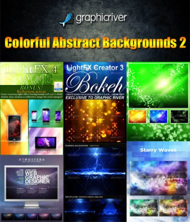 Beautiful Colorful Abstract Backgrounds collection