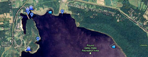 Google - Round Valley Fishing Map