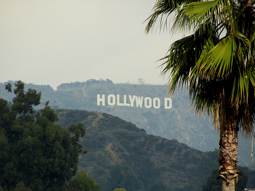 The Hollywood Sign taken from the Kodak Theatre