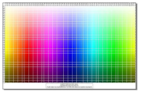 RGBColor Management Chart for CorelDraw
