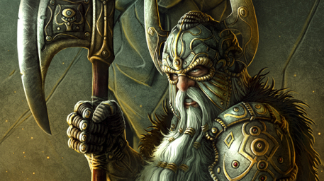 Gillur Picture  (2d, fantasy, dwarf, portrait, warrior)