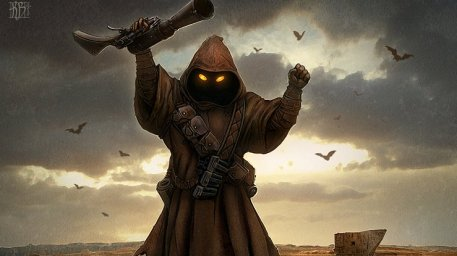 Jawa Warlord Picture  (2d, creature, star wars, fan art, fantasy)