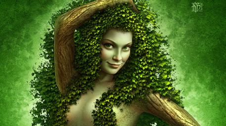 Ivymane Picture  (2d, creature, girl, woman, fairy, fantasy, portrait)