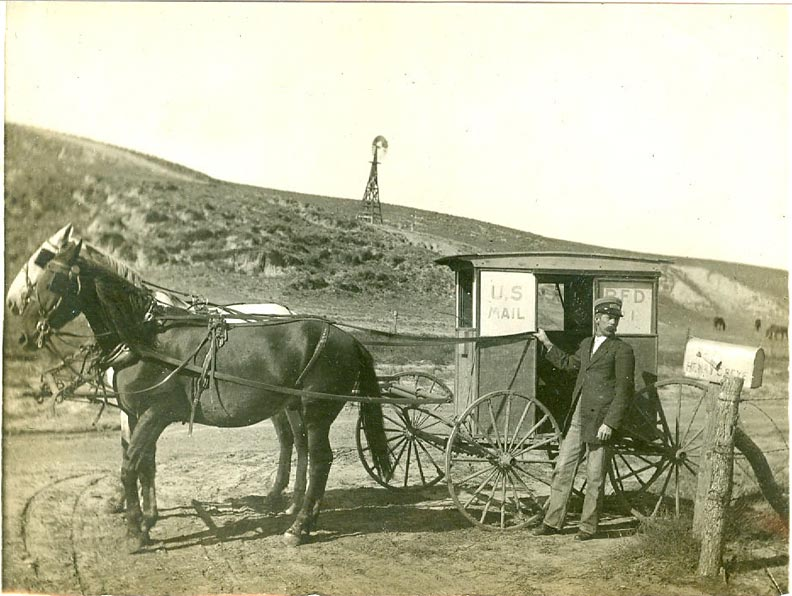 J.W. Thompson on his RFD route (NSHS 11055-2718-2720).