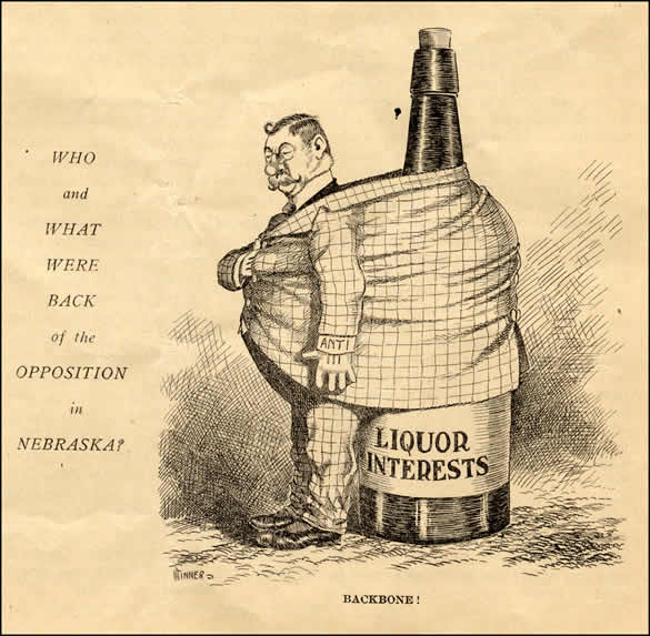 "Mrs. Woodbey was active in the temperance and woman suffrage movements. This cartoon from the February 8, 1919, issue of The Woman Citizen noted the connection between the two causes, implying that the ""liquor interests"" opposed giving women the vote because they feared that women voters would favor prohibition."