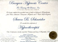 hypnotherapy certification 2