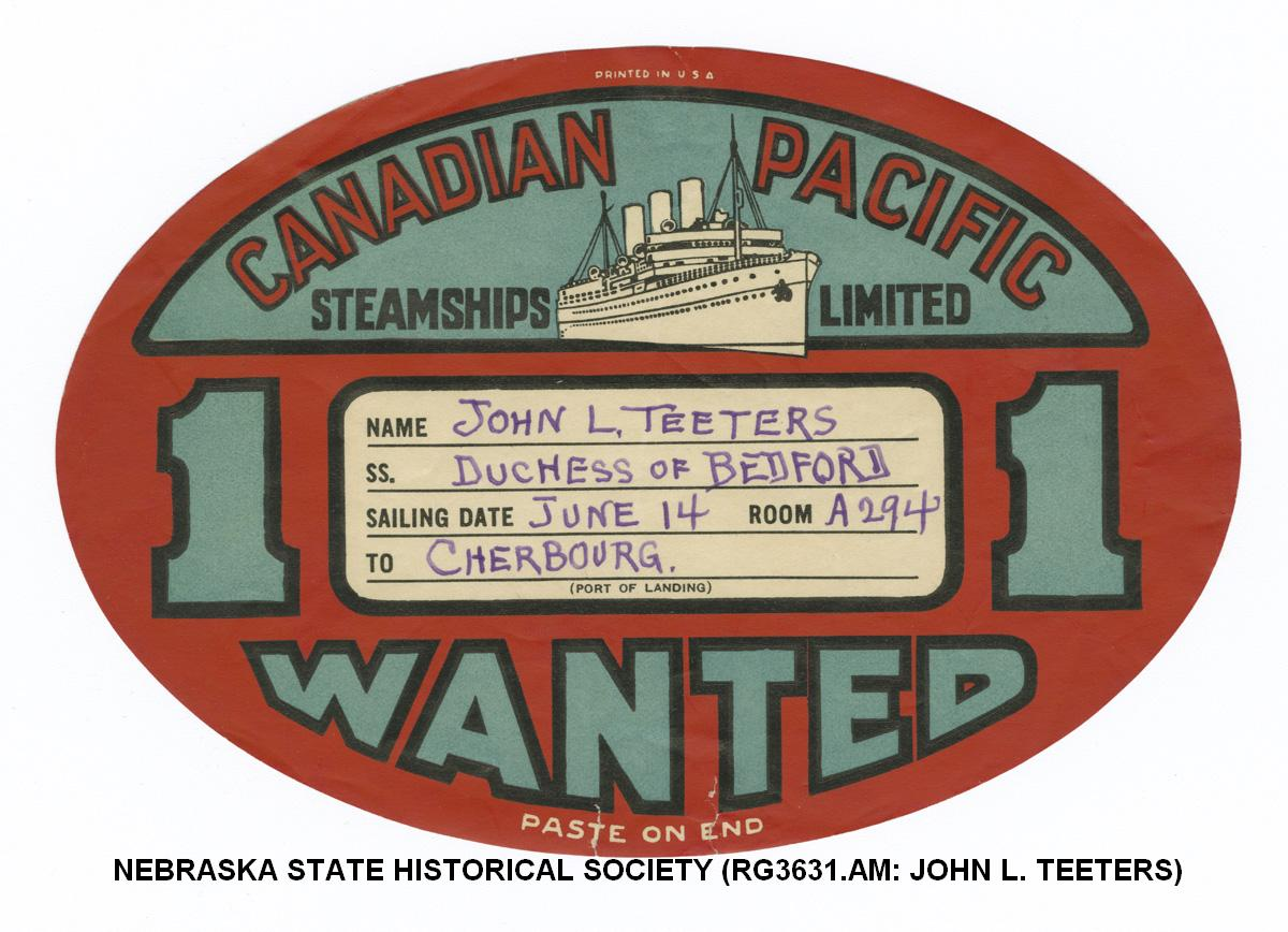 Canadian Pacific Steamship steamer trunk label