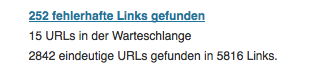 Screenshot Broken Link Checker WordPress-Plugin