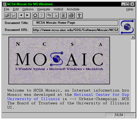 NCSA Mosaic from 1993