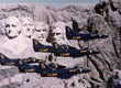 Thumbnail: Blue Angels squadron in flight in front of Mount Rushmore, 1976