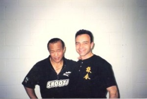 Martial Arts Legend Guro Dan Inosanto & The Martial Arts Reporter At Sifu Francis Fong's Martial Arts Academy
