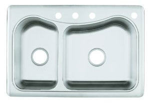 Kohler K-3361-4-NA Stainless Steel Kitchen Sink