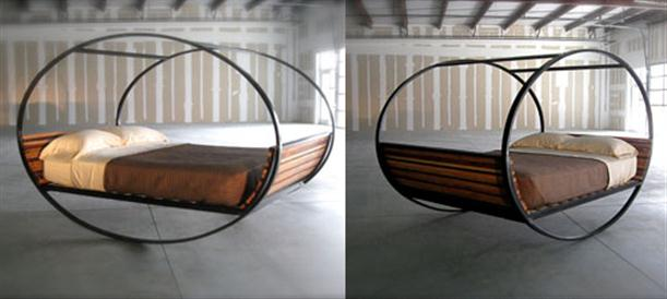 two view Rocking Bed with Modern and Unique Design by Shiner