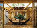 hanging bed bamboo house design