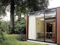 awesome L-shaped House Design with Large Glazing Front and Very Old Beech Tree