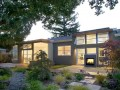 Backyard at Modern Sustainable Ranch House Design