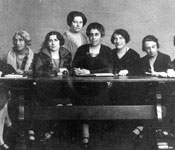 Photograph of the first Women's International Zionist Organisation (WIZO) Executive, 1920.