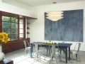 Exotic Dining room  L-Shaped Venice Home Design Ideas