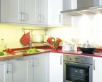 Kitchen Ideas for Small Kitchen with Red and White color