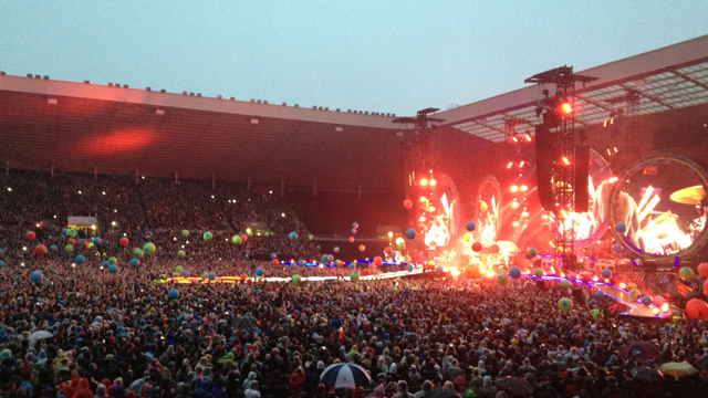 Coldplay live at the Stadium of Light