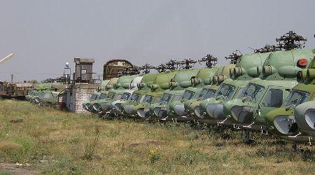 Helicópteros Mi-2 sin rotores