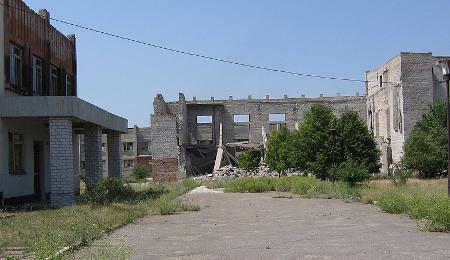 Detalle de los edificios de la base