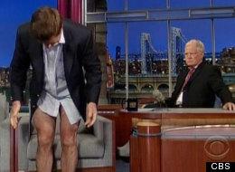 Alec Baldwin And David Letterman Drop Their Pants