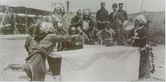Cowboys and Indians play Ping Pong