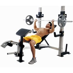 Exercising Using a Weight Bench