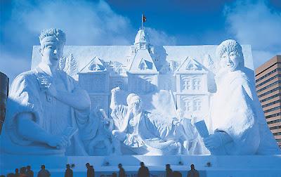 ice festival in quebec city